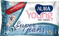 Вологі серветки Aura освіжаючі Young 15 шт.