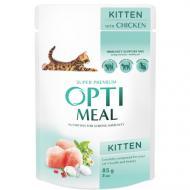 Влажный корм Optimeal для котят, с курицей, 85 г