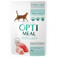 Влажный корм Optimeal для стерилизованных кошек и кастрированных котов, с индейкой и куриным филе, 8
