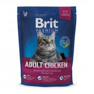 Сухой корм для взрослых с курицей Brit Premium Cat Adult Chicken 300 гр