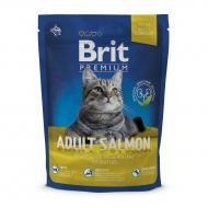 Сухой корм для взрослых с лососем Brit Premium Cat Adult Salmon 300 г