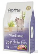 Сухой корм для стерилизованных и кастрированных кошек и котов (куриное мясо и рис)  Profine Cat Ster