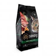 Сухой корм для взрослых капризных кошек Savory 2 кг (индейка и утка)