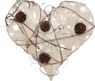 Підвіска Серце з шишками 20 см RF026