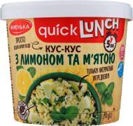 Кускус ТМ Жменька з лимоном і м'ятою Quick Lunch 70г (4820152182425)