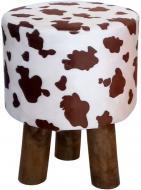 Табурет Woodville Бурьонка коричневий білий натуральний
