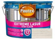 Деревозащитное средство Pinotex extreme lazure stay clean белый полумат 10 л