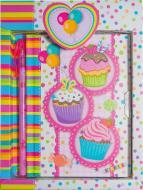 Блокнот детский Malevaro Пироженки на замочке подарочной упаковке (640610-A)