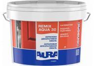 Эмаль Aura® акриловая Luxpro Remix Aqua 30 белый полумат 0,75л