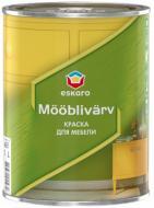 Фарба для меблів акрилова водоемульсійна Eskaro Mooblivarv напівмат білий 0,9л 1,08кг