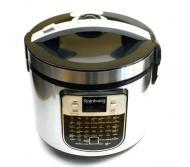 Мультиварка пароварка йогуртница Rainberg RB-6209 45 программ 6 л 1000W Silver/Black