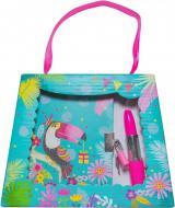 Блокнот детский Malevaro Тукан в подарочной сумочке с ручкой-помадой 150x110 мм 56 листов в линию (T