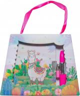 Блокнот детский Malevaro Веселая лама в подарочной сумочке с ручкой-помадой 150x110 мм 56 листов в л