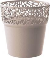 Кашпо пластикове Prosperplast Naturo круглий 1,7л (78985-7529) мокко