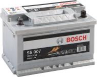Акумулятор автомобільний Bosch S5 6СТ-74 74А 12 B «+» праворуч