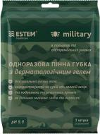 Комплект Естем пінна губка з гелем Military із рушником 1 шт.