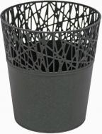 Кашпо пластикове Prosperplast City круглий 1,7л (78990-426) графітовий