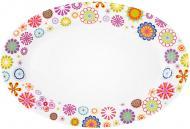 Блюдо сервірувальне Blumen 22x15 см 21-244-027 Krauff