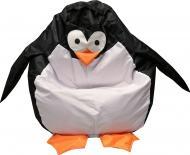 Крісло-мішок Пінгвін L чорно-білий