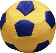 Крісло-мішок Мяч S жовтий із синім