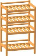 Полка Тарлев для обуви 4-х уровневая 290x750 мм / сосна