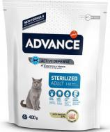 Сухой корм для кошек Advance Cat Sterilized 0.4 кг для стерилизованных котов и кошек против ожирения