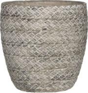 Горщик керамічний Edelman Alma круглий 6л (59069) сірий