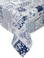 Скатертина Blue azulejos 110x140 см синій із білим UP! (Underprice)