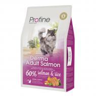 Сухой корм Profine Cat Derma 10 кг для кошек шерсть которых требует дополнительного ухода (лосось)