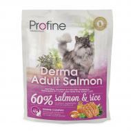 Сухой корм Profine Cat Derma 0.3 кг для кошек шерсть которых требует дополнительного ухода (лосось)