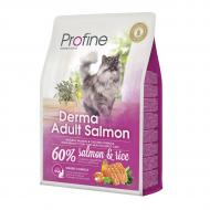 Сухой корм Profine Cat Derma 2 кг для кошек шерсть которых требует дополнительного ухода (лосось)