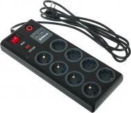 Фільтр-подовжувач REAL-EL RS-8F USB CHARGE із заземленням 8 гн. чорний 3 м RS-8F USB CHARGE 3m, black