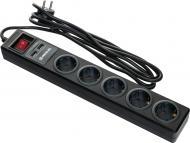 Фільтр-подовжувач REAL-EL RS-5 USB CHARGE із заземленням 5 гн. чорний 3 м RS-5 USB CHARGE 3m, black