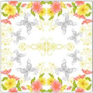 Серветки столові La Fleur Мереживні метелики 33х33 см 20 шт.