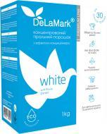 Пральний порошок для машинного та ручного прання DeLaMark з ефектом кондиціонеру для білої білизни 1 кг