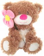 Мягкая игрушка Lapulli Мишка с цветком 43 см 012SBX363-1