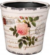 Кашпо керамічне Троянда круглий 4.3л (Y384-116-2) з малюнком