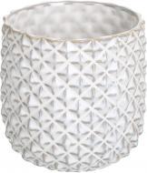 Кашпо керамічне Ромбік круглий (380-5.9P-H1) білий