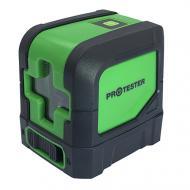 Рівень лазерний PROTESTER 2 лінії 1H/1V зелений промінь LL102G