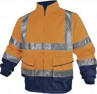 Куртка сигнальна Delta Plus PH2 зі світловідбиваючими смугами р. XXXL PHVE2OM3X помаранчевий