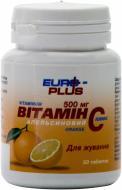 Вітамінно-мінеральний комплекс EURO-PLUS Vitamin C 50 шт./уп. 100 г апельсиновий