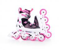 Роликовые коньки Tempish GOKIDGIRL 100000004099/37-40 р. 37-40 черно-розово-белый