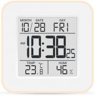Термогігрометр Склоприлад Т-19 із годинником бежевий