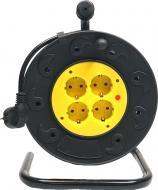 Удлинитель на катушке PowerPlant 25 м, 3x2.5 мм², 16А, 4 розетки, морозостойкий (JY-2002/25) PPRA16M25S4L