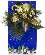 Гілочка декоративна хвойна з золотими листочками 20 см