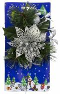 Гілочка декоративна хвойна з сріблястою квіткою 20 см 470792