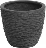 Кашпо декоративне Engard Верчеллі круглий 10,6л чорний