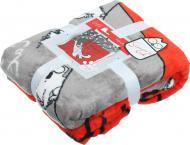 Плед Red+Grey Cat 160x200 см червоний із сірим Simon's Cat