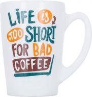 Чашка New Morning Life Is Short 320 мл Luminarc