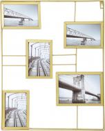 Колаж золотистий на 4 фото 10x15/18x13 см